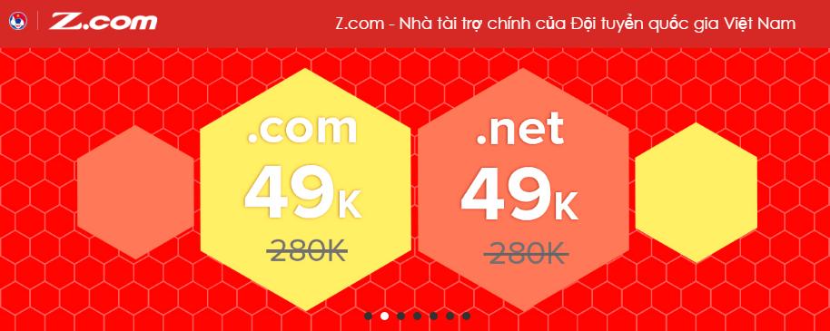 Z.com discount .COM and .NET to