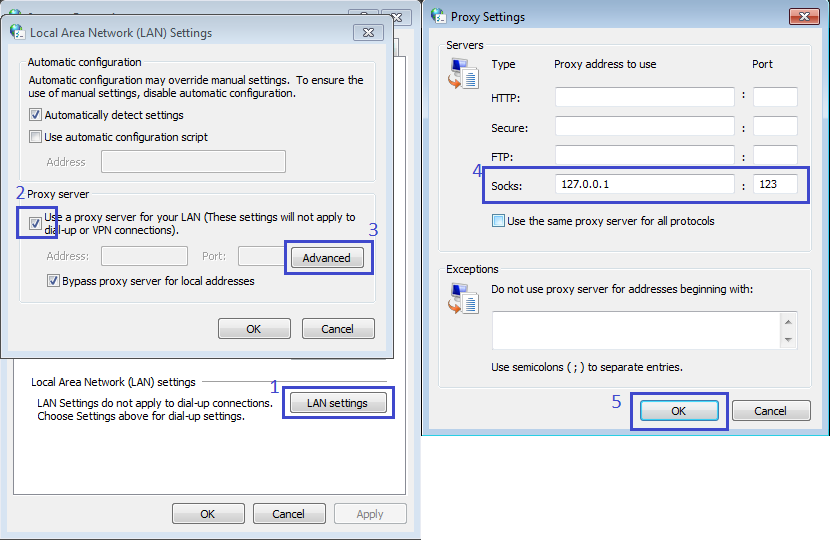 Change IP with VPS as a Socks