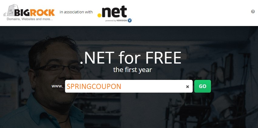 Grab .NET Domain For FREE First Yr at BigRock