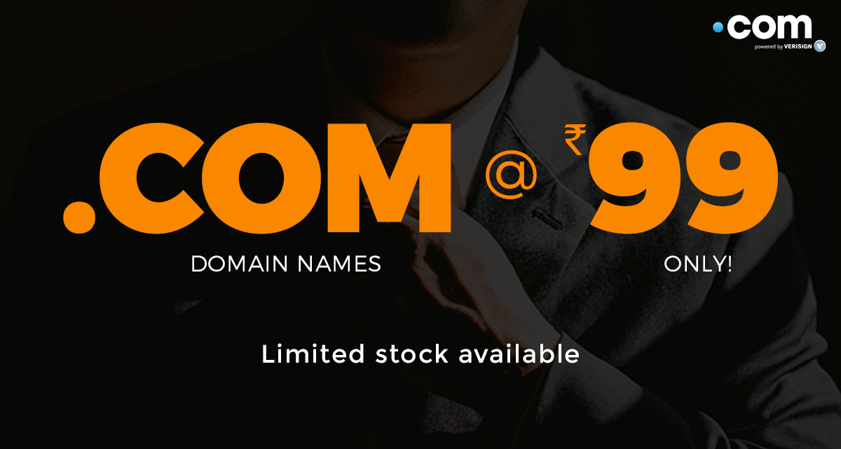 Get .COM Domain Just Rs ninety nine (<img class=