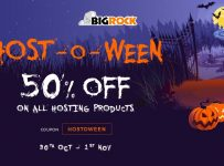 This Halloween, Let Shop 50% OFF on All Hosting Plans at BigRock