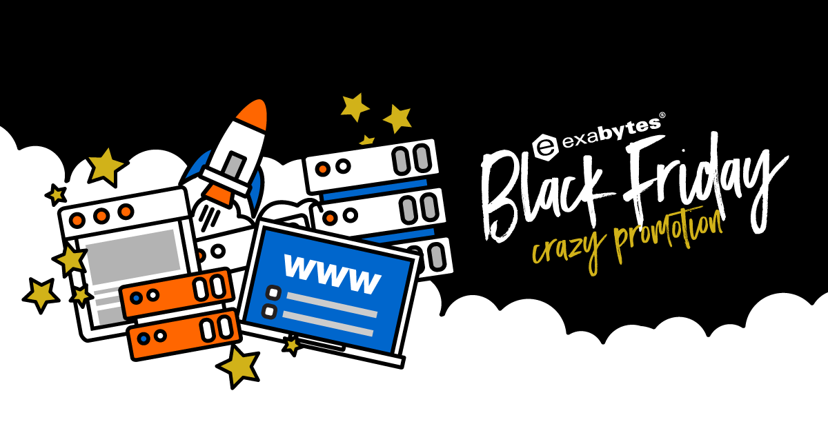 Exabytes BLack Friday Crazy Sale – Free Domains, Hosting/VPS/Server Merely <img class=