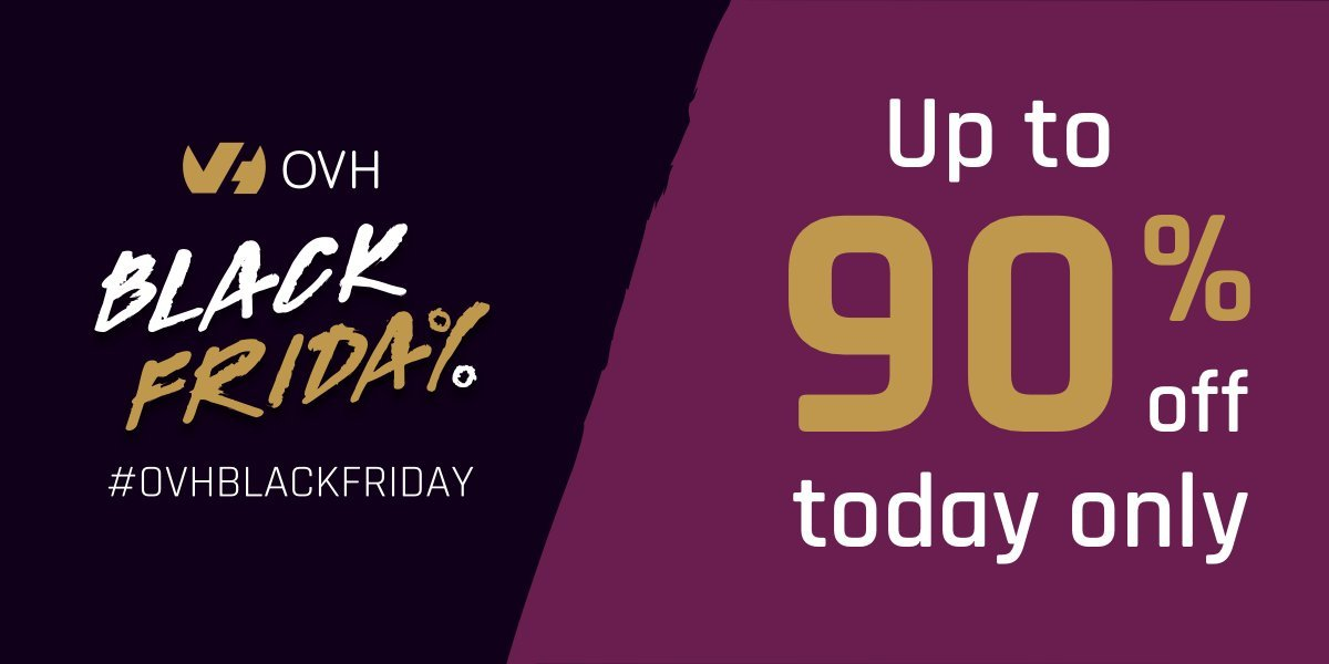 [Flash Sale] OVH Black Friday, Discount Up to ninety%, .COM Domain For Purely $0.99