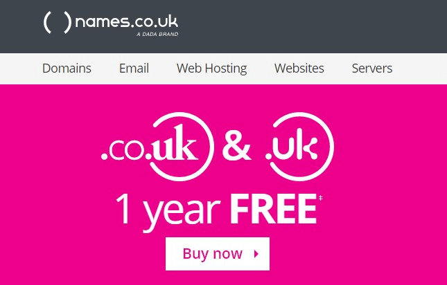 Get Your FREE .UK Domain Names at Namesco