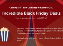 Namecheap Will Lower price Up to ninety nine% on Black Friday