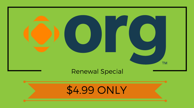 Renew Your .ORG Domain For Purely $4.ninety nine at Name.com